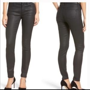 Madewell Wax Coated Skinny Jeans